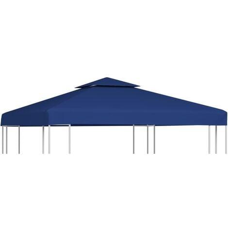 Gazebo Cover Canopy Replacement 310 g / m Dark Blue 3 x 3 m - Blue