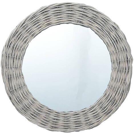 Mirror 40 cm Wicker - Brown