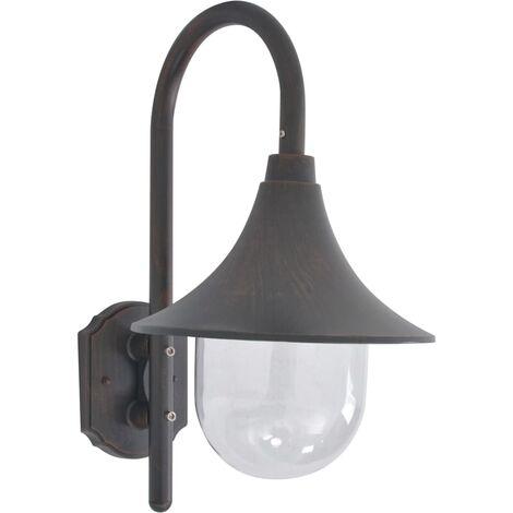 Garden Wall Lamp E27 42 cm Aluminium Bronze - Brown