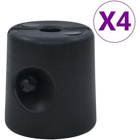 Gazebo Weights 4 pcs PE Black - Black
