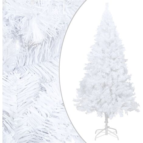 Artificial Christmas Tree with Thick Branches White 180 cm PVC - White