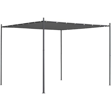 Gazebo with Flat Roof 3x3x2.4 m Anthracite - Anthracite