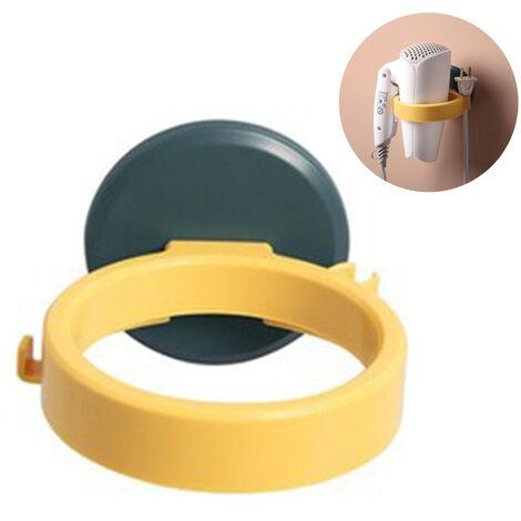 Wall Mounted Hair Dryer Holder, Hair Dryer Holder, Plastic Hair Dryer Bathroom Organizer Storage Shelf Holder, Trace Free, Waterproof, Self-adhesive, Solid Storage