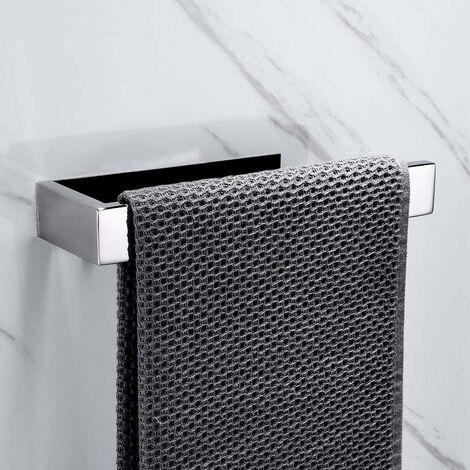Towel Ring Chrome Bathroom Towel Rack 304 Stainless Steel Towel Rack Self Adhesive No Drilling Kitchen Rack