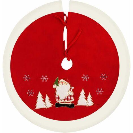 Round Christmas Tree Skirt Christmas Tree Blanket Christmas Tree Blanket Christmas Tree Needle Protection Red / White