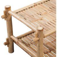 2-Tier Bamboo Shoe Rack - Brown