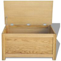 Storage Box 90x45x45 cm Solid Oak Wood - Brown