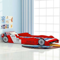 Children's Race Car Bed 90x200 cm Red - Red