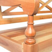 Batavia Bench 98 cm Solid Mahogany Wood Light Brown - Brown