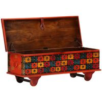 Storage Box Red 110x40x40 cm Solid Acacia Wood - Red