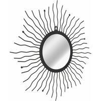 Garden Wall Mirror Sunburst 60 cm Black - Black