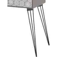 Nightstands with Drawer 2 pcs Grey - Grey