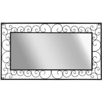 Garden Wall Mirror Rectangular 60x110 cm Black - Black