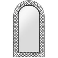 Garden Wall Mirror Arched 60x110 cm Black - Black