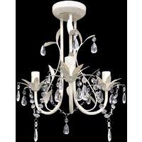 Crystal Pendant Ceiling Lamp Chandeliers 4 pcs Elegant White - White