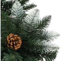 Artificial Christmas Tree with Pine Cones and White Glitter 210 cm - Green