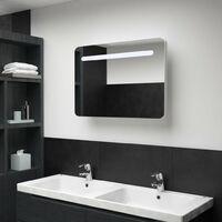 LED Bathroom Mirror Cabinet 80x11x55 cm - White