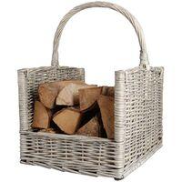 Esschert Design Firewood Basket Grey MW42 - Blue