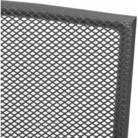 Stackable Garden Chairs 2 pcs Steel Grey - Grey