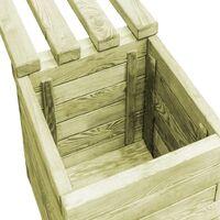Garden Planter Bench Impregnated Pinewood - Green