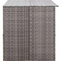Garden Storage Box Grey 150x100x100 cm Poly Rattan - Grey