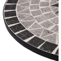 Mosaic Bistro Table Grey 61cm Ceramic - Grey