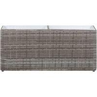 Garden Raised Bed with 2 Pots 90x20x40 cm Poly Rattan Grey - Grey