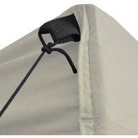 Folding Gazebo with 4 Sidewalls 5x5 m Cream - Cream