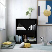 Bookshelf High Gloss Black 60x24x74.5 cm Chipboard - Black