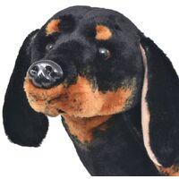 Standing Plush Toy Dachshund Dog Black XXL - Black