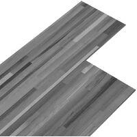 PVC Flooring Planks 5.02 m 2 mm Self-adhesive Striped Grey - Grey