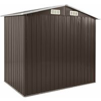 Garden Shed with Rack Brown 205x130x183 cm Iron - Brown