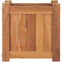 Raised Bed 30x30x30 cm Solid Teak Wood - Brown