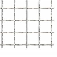 Crimped Garden Wire Fence Stainless Steel 100x85 cm 11x11x2 mm - Silver