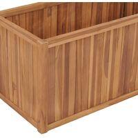 Raised Bed 100x50x50 cm Solid Teak Wood - Brown
