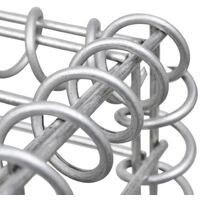 Gabion Basket Galvanised Steel 120x30x50 cm - Silver
