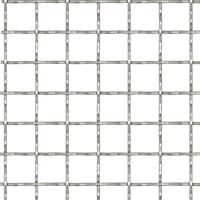 Crimped Garden Wire Fence Stainless Steel 50x50 cm 31x31x3 mm - Silver