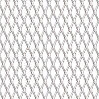 Garden Wire Fence Stainless Steel 100x85 cm 45x20x4 mm - Silver