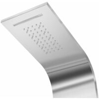 Shower Panel System Stainless Steel Curved