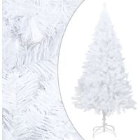 Artificial Christmas Tree with Thick Branches White 210 cm PVC - White