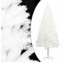 Artificial Christmas Tree Lifelike Needles White 150 cm - White