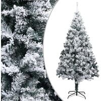 Artificial Christmas Tree with Flocked Snow Green 240 cm PVC - Green