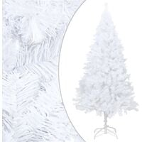 Artificial Christmas Tree with Thick Branches White 240 cm PVC - White