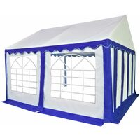 Garden Marquee PVC 3x4 m Blue and White - Blue