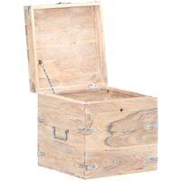 Chest 40x40x40 cm Solid Acacia Wood