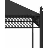 Gazebo with Curtains 3.5x3.5x3.1 m Anthracite - Anthracite