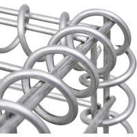 Gabion Baskets 3 pcs Galvanised Steel 25x25x197 cm - Silver