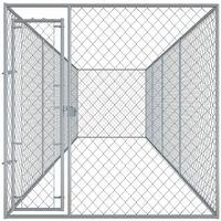 Outdoor Dog Kennel 760x192x185 cm - Silver