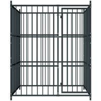 Outdoor Dog Kennel 150x150x185 cm - Black