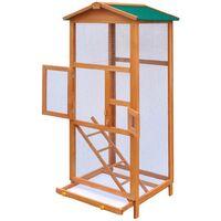 Bird Cage Wood 65x63x165 cm - Brown